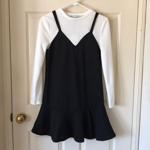 English Factor ruffle hem sweater dress